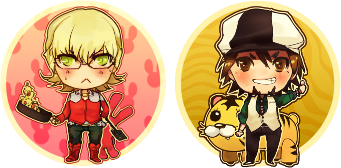Tiger and Bunny Button Set by linedup