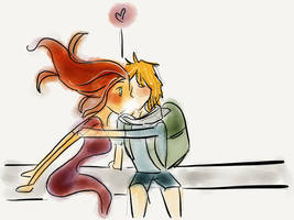 Finn and Flame princess by AdrianaColera
