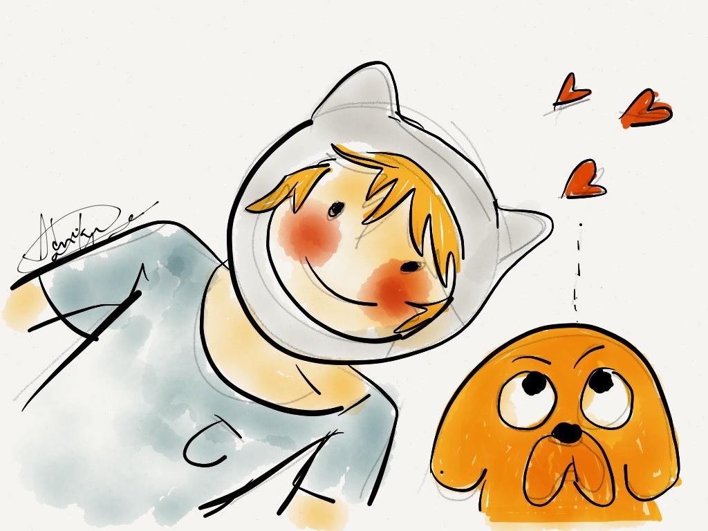 Finn in love- Adventure Time by AdrianaColera on DeviantArt