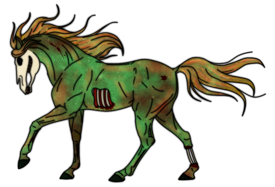 zombie horse by jennek...