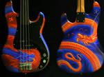 dragonized bass guitar