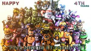 {SFMFNAF} Happy 4TH years FNaF!! (Late) by MemeEverYT