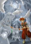 Terranigma: Crystal statues