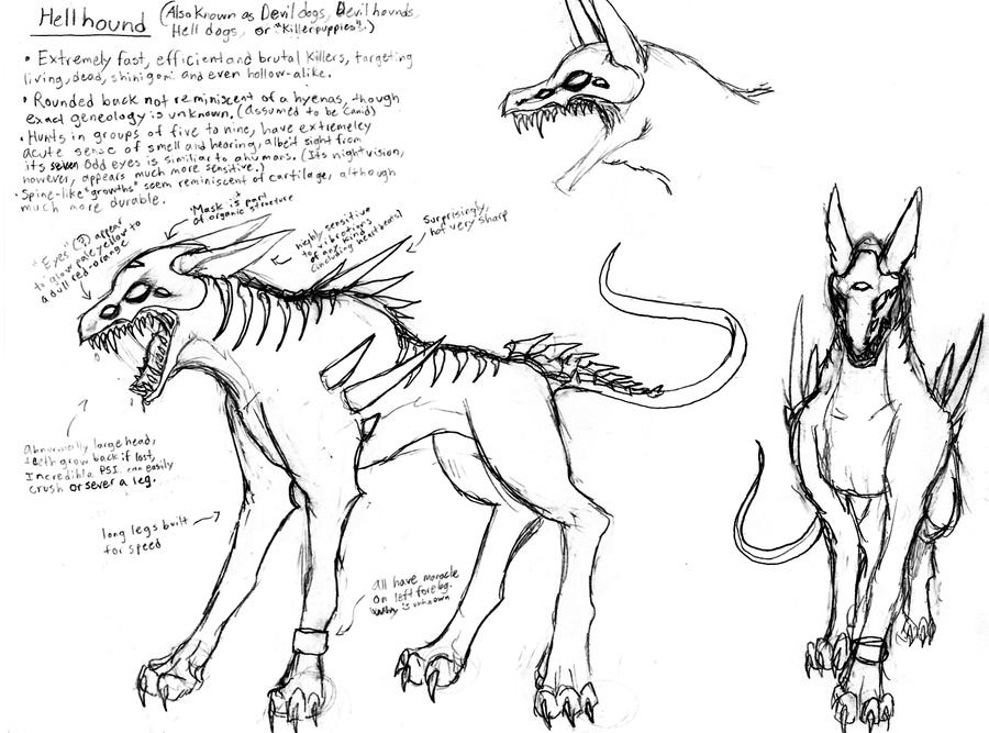 CONCEPT- UNFINISHED- HellHound by Ravenwind137