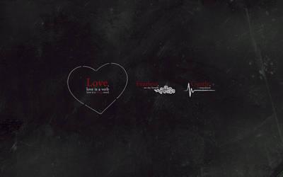 Love, love is a verb