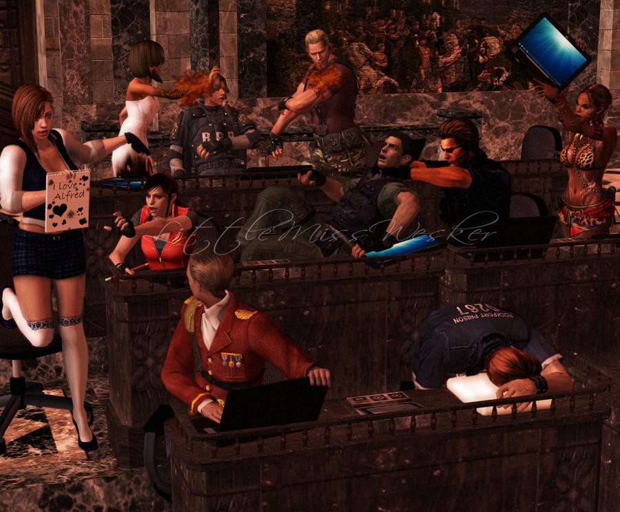 [3D] Resident Evil: Good Ol' Schooltimes by x0BlackRose0x