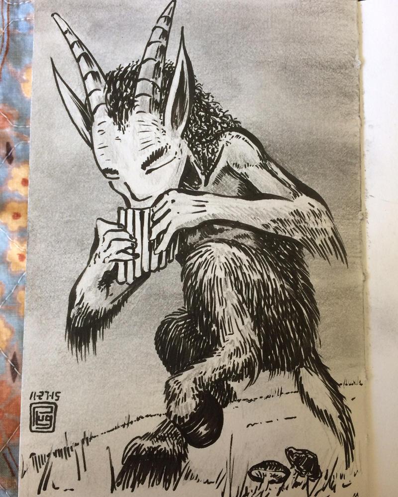Faun sketch by PLUGO