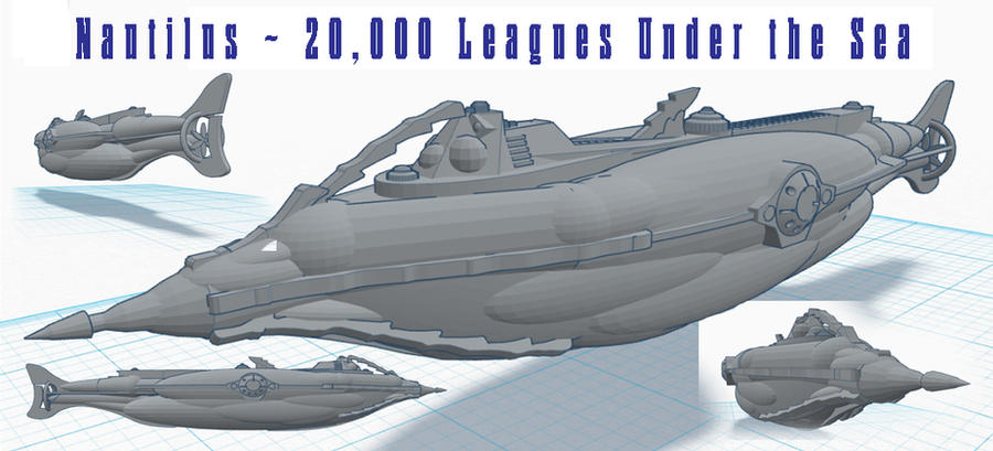 Nautilus ~ 20,000 Leagues Under the Sea by TonyGCampagna