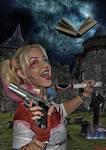 Harley Quinn versus el Necronomicon b