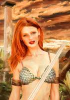 Cintia Dicker como Red Sonja by EscribaRegio