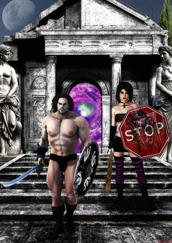 Conan el barbaro y Cassie Hack crossover