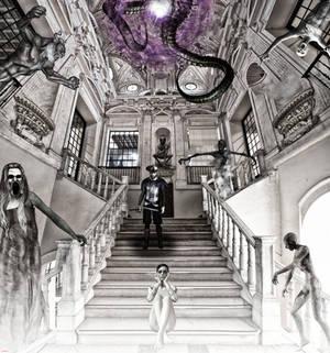 Don Quijote de la Mancha en el palacio fantasmal