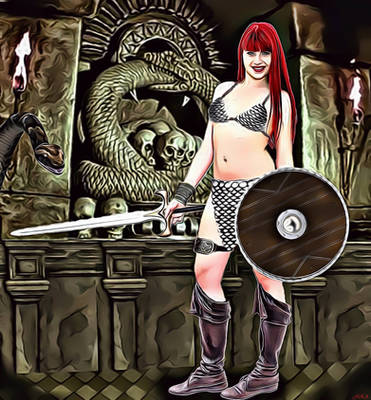 Red Sonja explora el templo de Set