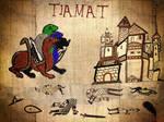 Dragon Tiamat ataca una villa