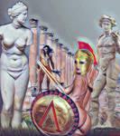Hoplita y Fauno by EscribaRegio