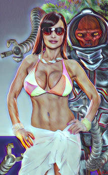 Damisela e Inspector de Bikinis del Espacio