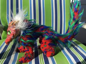 Red Dragon Posable Art Doll by kkyak1