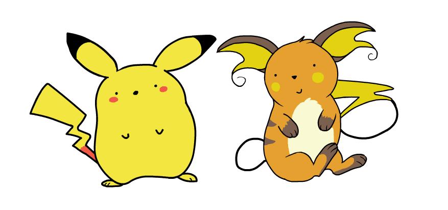 Pikachu and Raichu by HappyCrumble