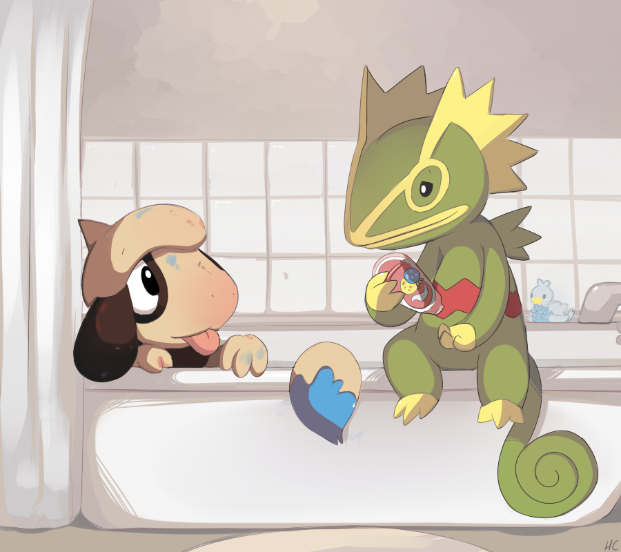 Smeargle's Bath by HappyCrumble
