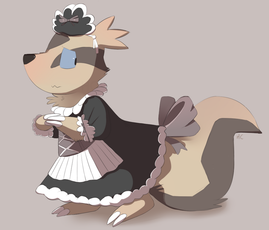 Linoone Maid by HappyCrumble