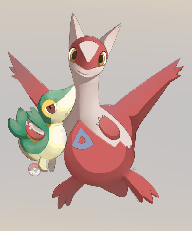 Latias And Snivy Plush By Happycrumble On Deviantart