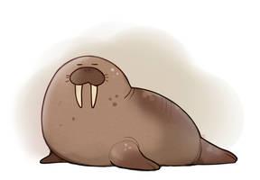 Walrus Doodle by HappyCrumble