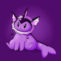 Spooky Vaporeon by HappyCrumble