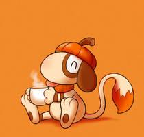 Pumpkin Spice Smeargle by HappyCrumble