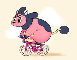 (Ko-fi) Miltank with Bike