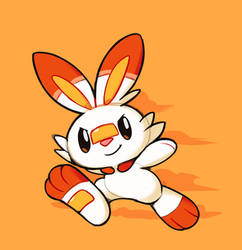 (Ko-fi) Quick Scorbunny by HappyCrumble