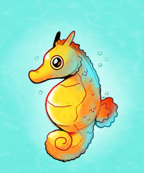 Chunky Seahorse by HappyCrumble