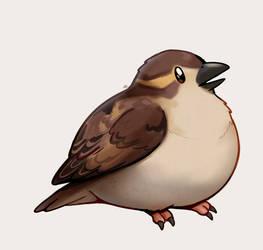 (Ko-fi) Peeping Sparrow