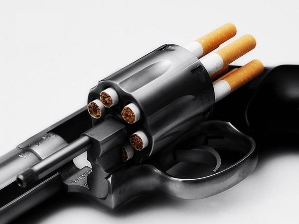 cigarette gun by Slim45hady