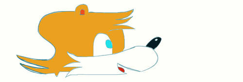Tails, the first attempt by Shizukana-Yume