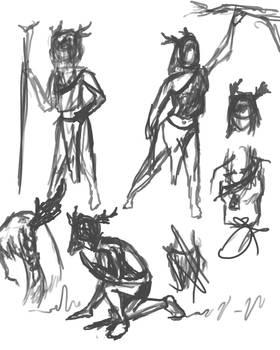 Antler Girl Concept sketch