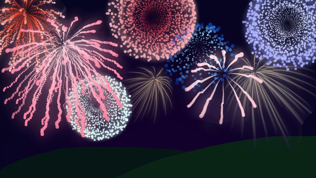 Free Fireworks Brushes by drakinite