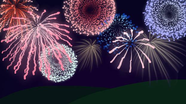 Free Fireworks Brushes