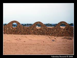 Wall in the desert