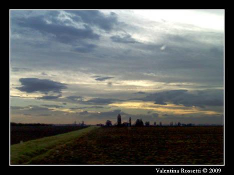 Campi e nuvole