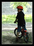 Grandson by bike