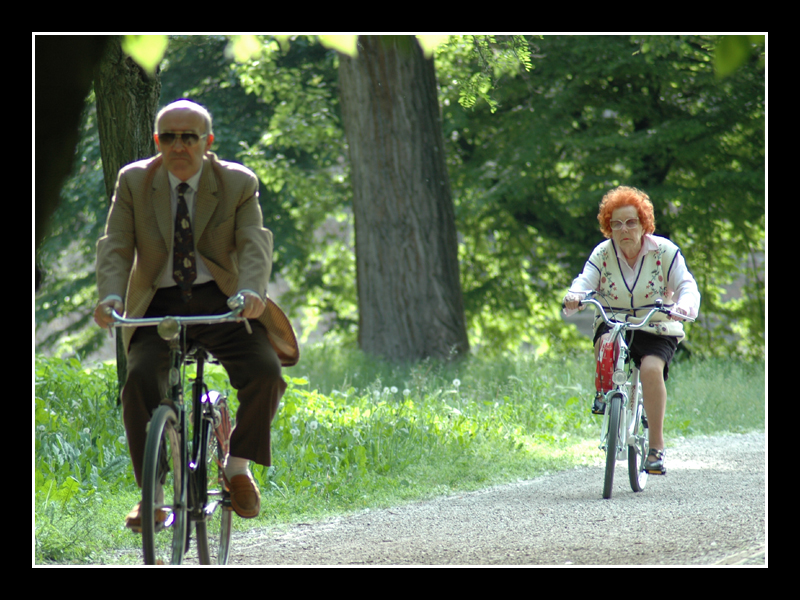 Grandparents by bike