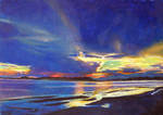 Wellfleet Harbor at Sunset