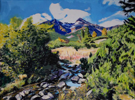 Mountain Stream in the Tatras #1 WIP - Step 3