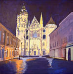 St. Elizabeth's Cathedral at Night WIP step 6