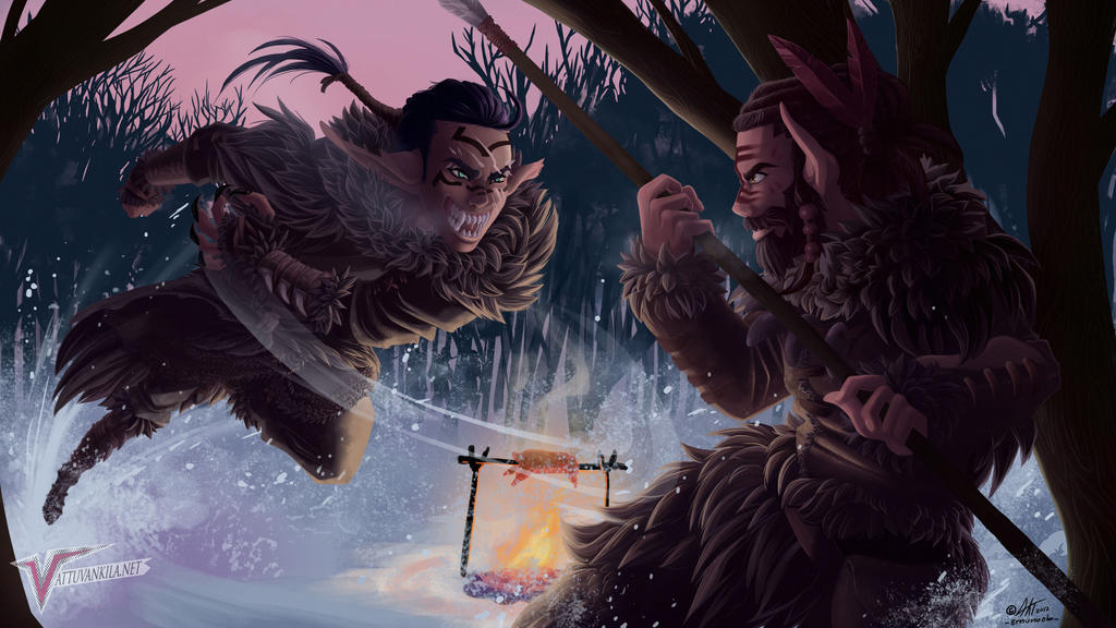 Prehistoric winter by Ernunoob