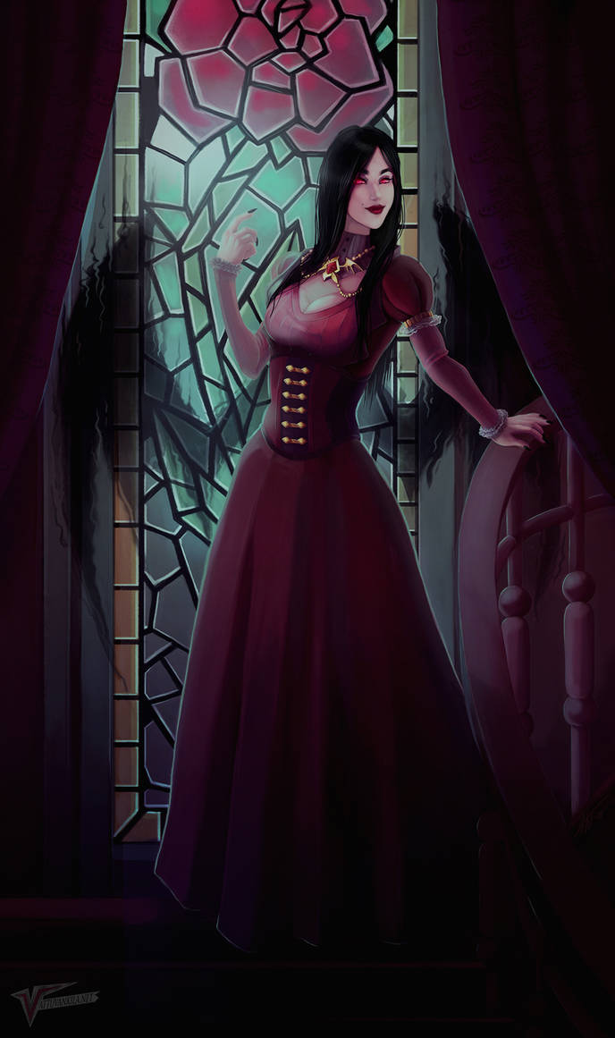 Lady of shadow roses by Ernunoob
