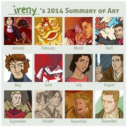 2014 summary of art by simply-irenic