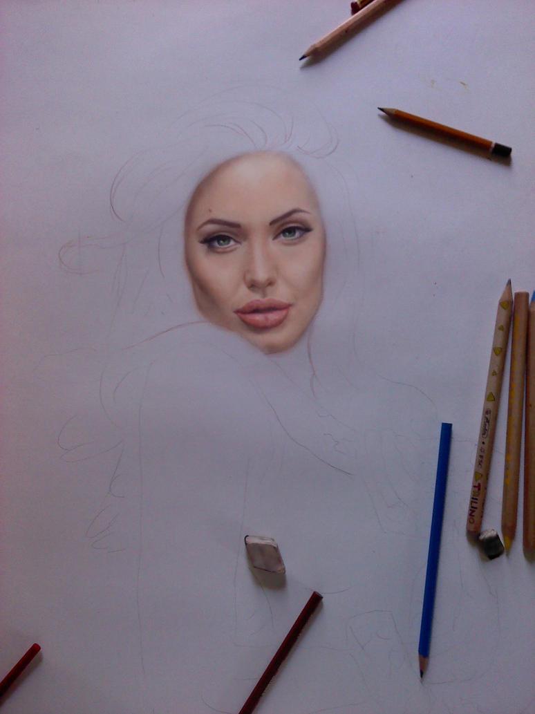 Angelina Jolie Drawing - Viewing Gallery Angelina Jolie And Brad Pitt