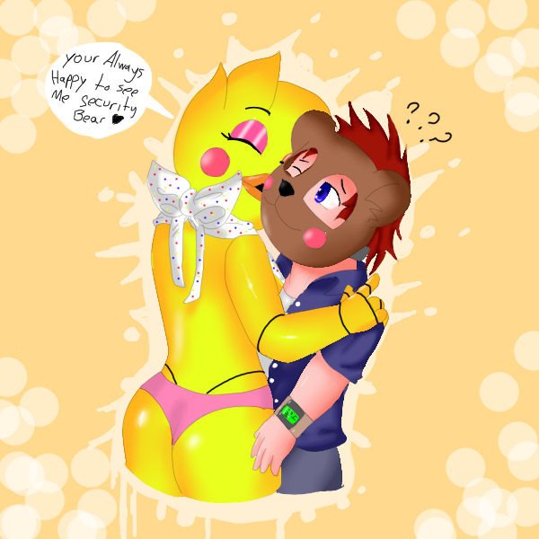 Chica huggle 5 nights at freddys by w rachet554 on deviantart