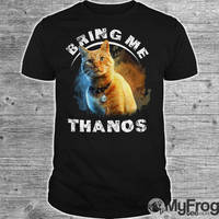 Captain Marvel Cat Goose bring me Thanos shirt by myfrogteee